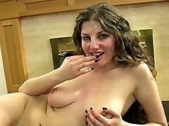 Pretty big tit mega-slut bukkake