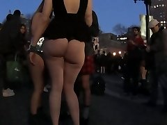 Girl flashes her big ass 2