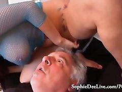 Lick Mistress Sophie Dee's Wet Cunny Slave!
