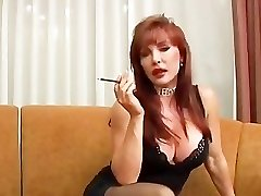 Mature Vanessa smoking and porking