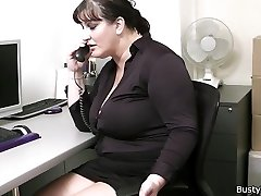 Office sex with big-titted chicks at work