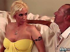 Blonde MILF wifey big cock rectal creampie