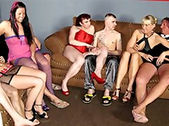 Claudia W & Magnificent Jessy & Daniela Advertisement in Fledgling German Homemade Orgy - MMVFilms