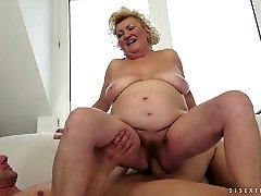 Exotic pornographic star in Unbelievable Blonde, Mature adult scene
