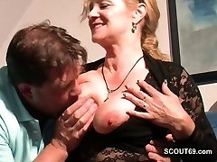 Monster Cock Step-Son Seduce Scorching German Mother to Bang