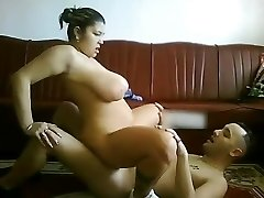 My CHubby Latina Gf with big breasts riding my cock on webcam