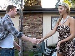 Natalie deepthroating her father's personal mechanic