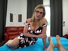 Ash-blonde milf gets creampie