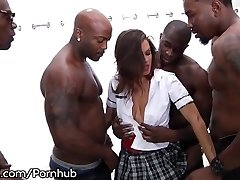 School Girl Keisha Grey Puts In Work - Hot Rough BBC Gang-bang