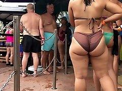 big arse on the beach