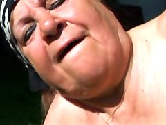 Fat Granny Fucked Outdoors