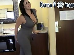 Fresh Kenna V. drenching her panties and spandex