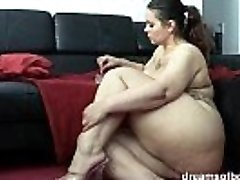 German Plus-size PAWG Samantha is teasing while she is smoking a ciggy