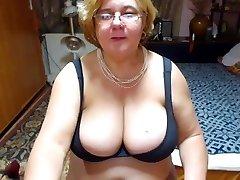 Mature with yam-sized tits