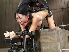 Tia Ling- Such a tiny backside, such a huge machine manstick!