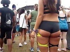 spyng massive bubble butt teenie  in mini shorts spandex