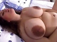 Mature phat tits with ginormous nipples and dildo! Amateur!