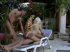 Lolo Ferrari  -  Cougar fucked by two fellows