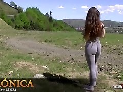 Hot amateur nubile shows her cameltoe off