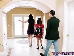Teen baby sitter pounded
