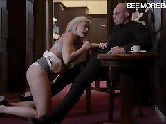 Glamour super hot blonde babe Victoria Redd fellates off and pounded