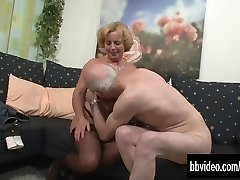 Mature german couple plowing