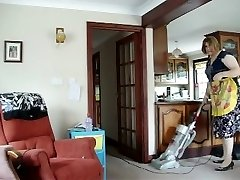 HOT Cougar SUCKS IT UP ALL OVER THE House