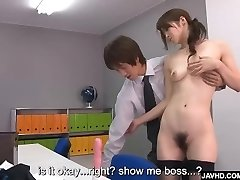Subtitles - Beautiful Maki Hojo penetrated rock hard in office