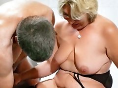 German Granny takes a youthful fuckpole - MMVFilms