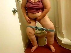 My BBW Ex-Motel toilet wipe voyeured-short version