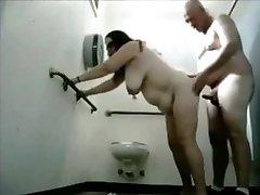 Chubby Milf Toilet Fucked