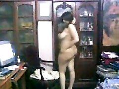 Curvy Arab Girl Teasing Her Thick Body
