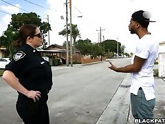 Black scofflaw fucked by two horny white cops