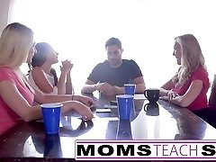 MomsTeachSex  Hot Mummy & Teen Friends Orgy Fuck With Neighbor
