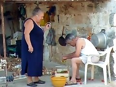 BBW italian Grandma Calls Granddad to shag