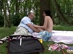OLD YOUNG Romantic Fucky-fucky Between Fat Old Stud and Beautiful Teenager Girl