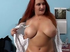 Mature Redhead with Immense Boobs gets Scammed by Physician