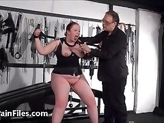 Bbw slave RosieB tit tortured and masochistic amateur bondage & discipline of f