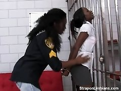 dark-hued inmate gets ass-fucked by ebony officer