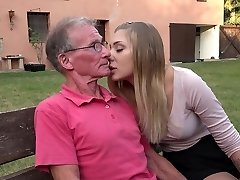 Big old cock teaching teenie light-haired assfucking fuck positions