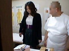 Medical voyeur massage video starring a round Chinese wearing black panties