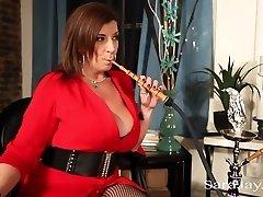 Sara Jay Smokes A Hookah and Bbc