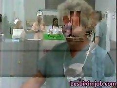 Horny lesbian nurses ass rimming free partFour