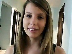 Big baps brunette teen girl Hanna Heartley jism swallows