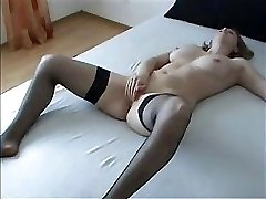 She has never been so happy until huge spouse�s dick found her labia