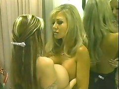 Big fake boobs titfighting!!