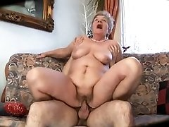Ugly mommy with flabby body & tits & guy