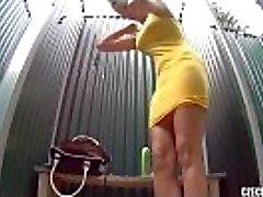 Czech Pool Amazing Teen with Rigid Tits Shower Voyeur