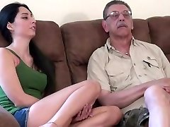 youthfull chick first time shagging with old man