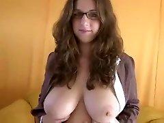 big tit blow-job